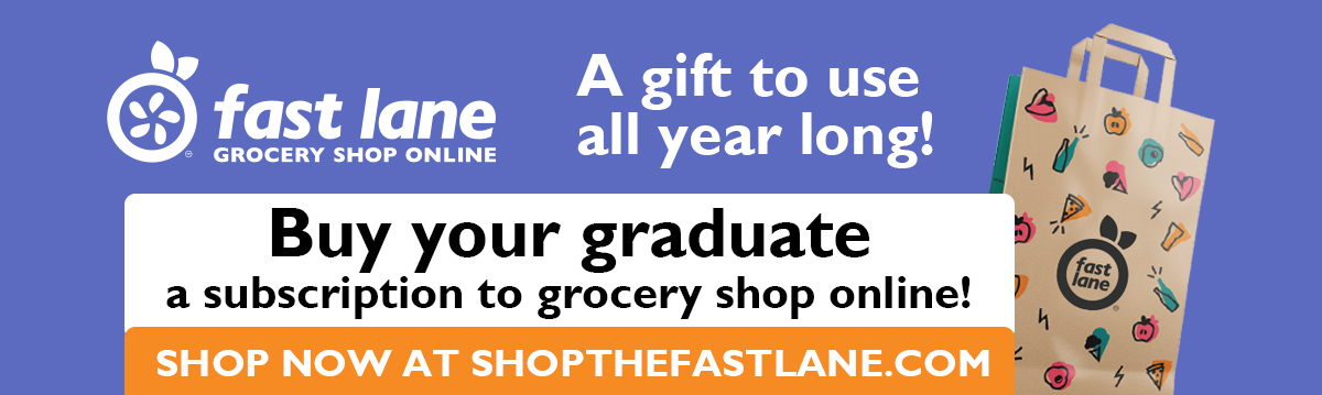 Buy your graduate a subscription to grocery shop online with Fast Lane.