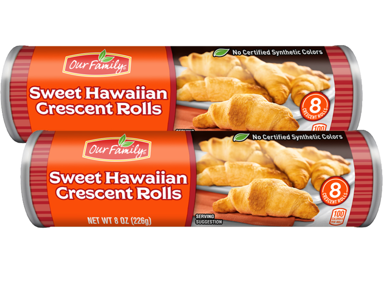 Our Family brand Sweet Hawaiian Crescent Rolls