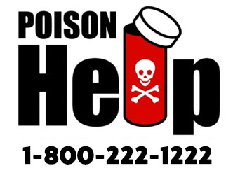 Poison Control logo and phone number 1-800-222-1222