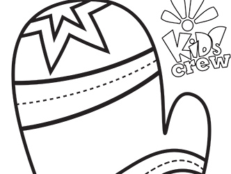Oven mitt coloring page