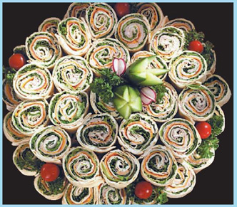 Party Pinwheels Platter from Forest Hills Foods
