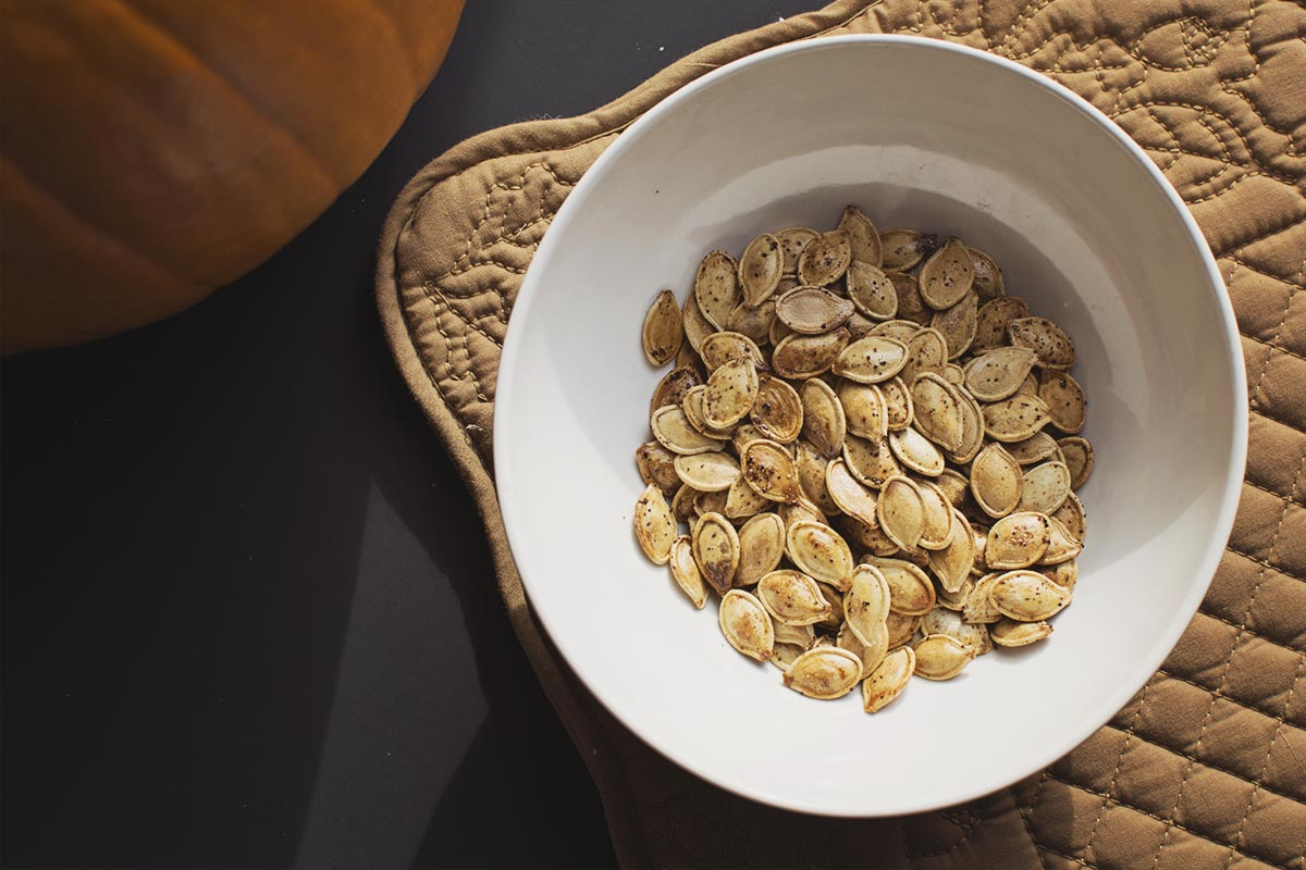 Roasted Pumpkin Seeds look delicious when they are finished!