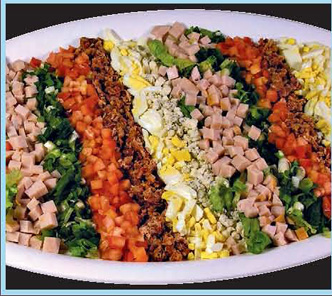 Supreme Salad party tray from Forest Hills Foods Deli