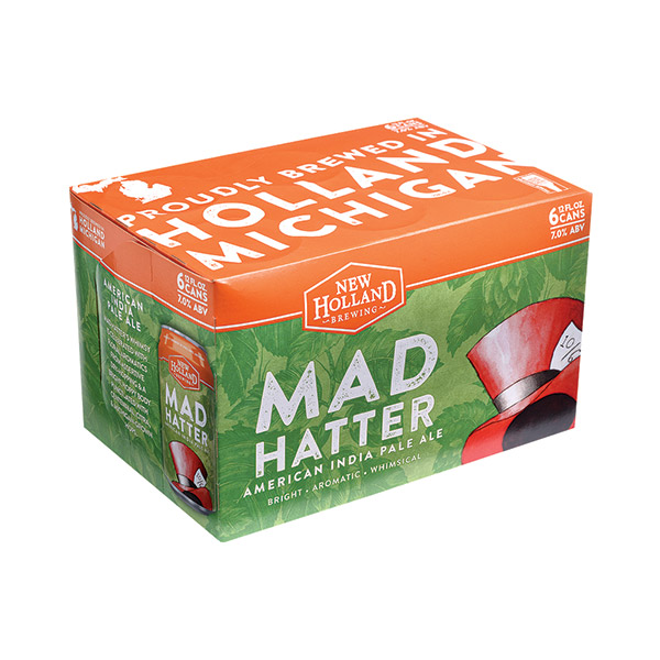 New Holland Mad Hatter 6pk can