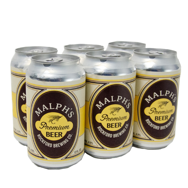Rockford Brewing Malph's Premium Beer 6pk can